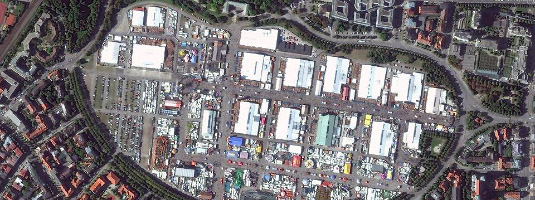 WorldView-2 Image (50 cm resolution, 1.10.2015), Munich, Germany, © 2015 DigitalGlobe - Oktoberfest, the world's most famous beer festival, having been held annually in Munich's Theresienwiese since 1810, when the first festival was held to celebrate the royal wedding.