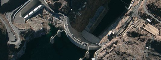 "GeoEye-1 image (10.1.2009), Hoover Dam on the Colorado river, Copyright © 2009 GeoEye - Are you interested in ""1-meter"" satellite imagery? We provide images acquired by GeoEye-1 , WorldView-1, QuickBird, IKONOS, Kompsat-2, EROS-B, OrbView-3, ..."